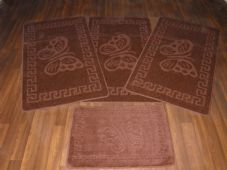 ROMANY GYPSY WASHABLES NEW  2017 BUTTERFLY DESIGN FULL SET OF BROWN  MATS/RUG
